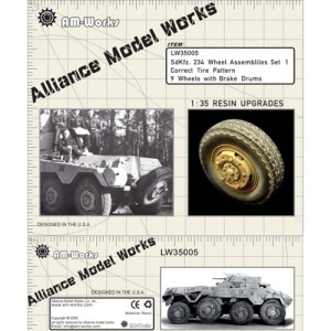 [LW35005] sd.kfz 234 wheel set type 1