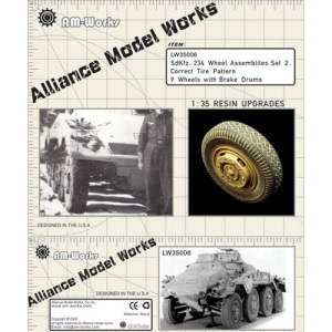 [LW35006] sd.kfz 234 wheel set type 2